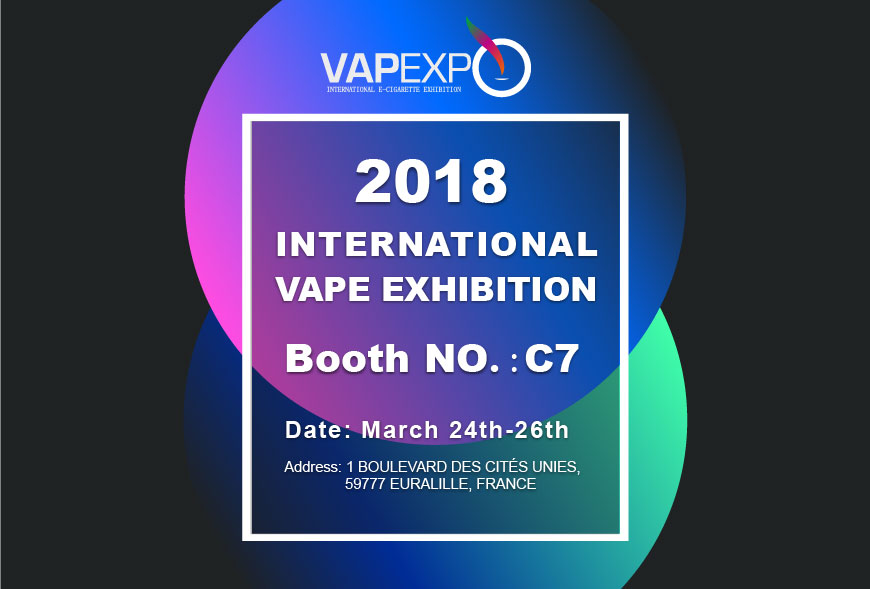 VAPEXPO Lille, France, March 2018